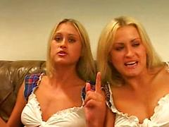 Threesome with twins