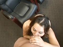 Chubby Teen Sucks His Cock During Audition Then Fucks