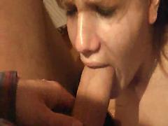 Teen With Tight Pussy Gets A Big Dick To Suck On