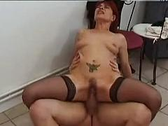 Readhead Milf Can't Get Enough Of The Young Cock