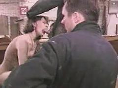 Vintage Video Shows One Sexy Gangbang In Garage