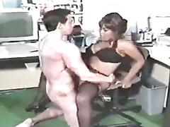 She Can Barely Fit His Fat Cock In Her Mouth
