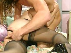 Sexy Amateur With Stockings Getting Her Pussy Filled