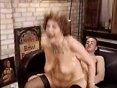 Curly Haired Mature Woman Enjoys A Hard Dick