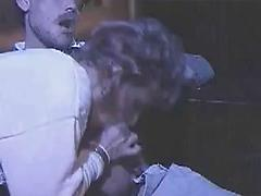 Two Lucky Men Fuck A Brunette In The Cinema