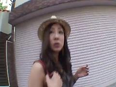 Light-minded Japanese vixen is not against swallowing some jizz