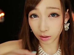 Petite Japanese babe plays with sex toys and gives a cowgirl ride