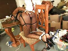 Two ebony sweeties with big asses gets wild of hardcore FFM threesome