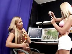 Naughty blonde angels experience some pussy licking and dildoing